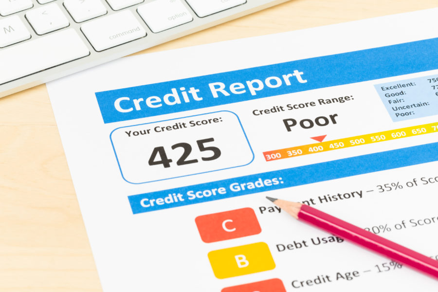 How long does bad credit show up on your credit report?