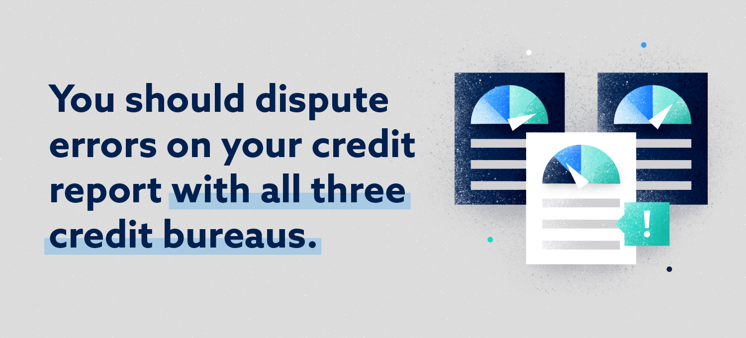 you should dispute errors on your credit report with all three credit bureaus