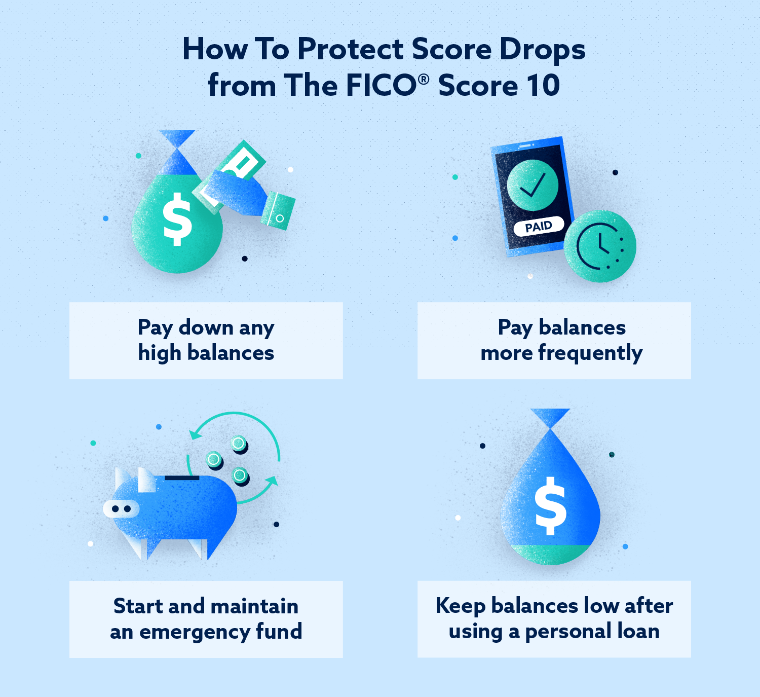 how to protect score drops from the fico score 10
