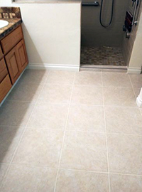 The company focuses on finished carpentry and tile work. (Photo courtesy of Griffin's Construction.)