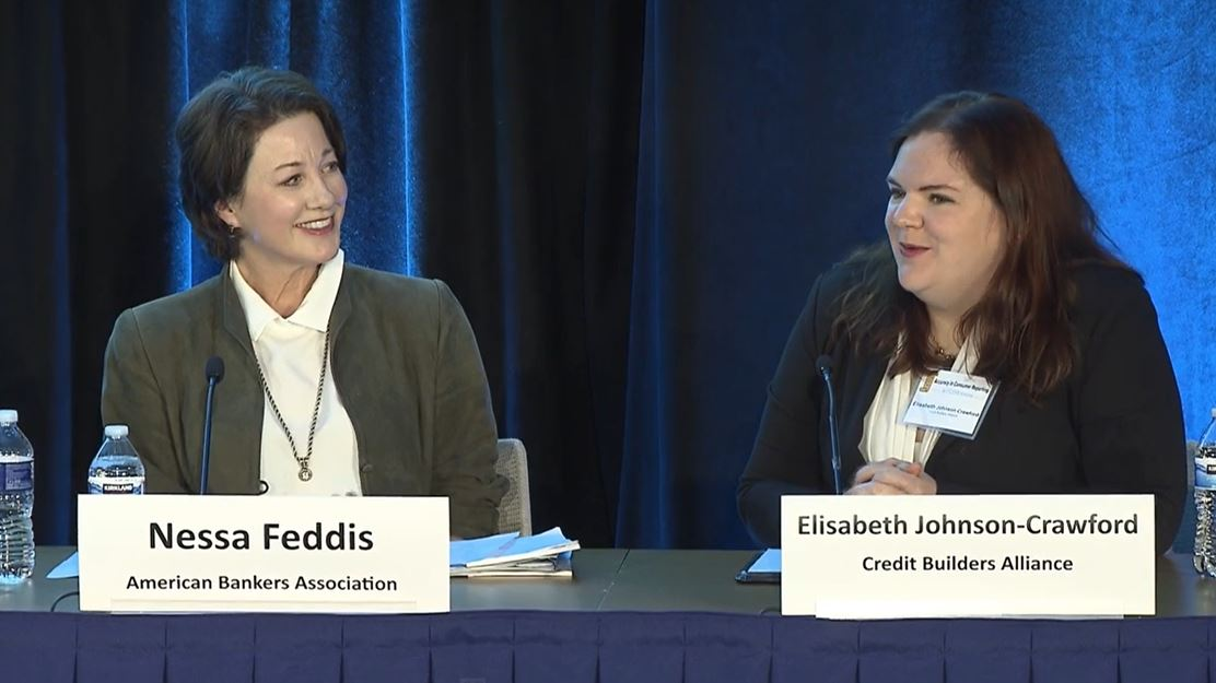 Nessa Feddis of the American Bankers Association and Elisabeth Johnson-Crawford from Credit Builders Alliance share their thoughts on compliance