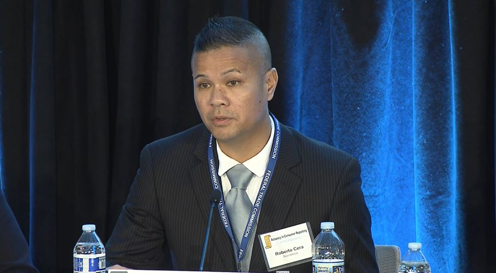 Panelist Roberto Cera of TransUnion discusses traditional credit reporting