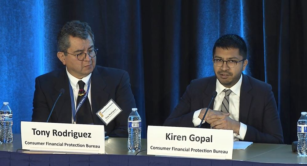 Panel Two Moderators Tony Rodriguez and Kiren Gopal from the Office of Supervision Policy of the CFPB took a closer look at traditional credit trade lines