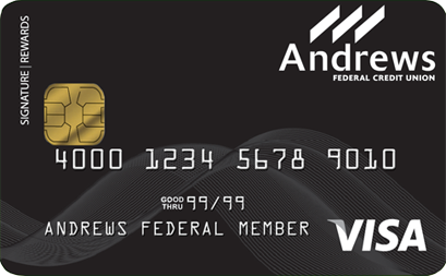 Visa® Titanium Signature Rewards Card from Andrews Federal Credit Union