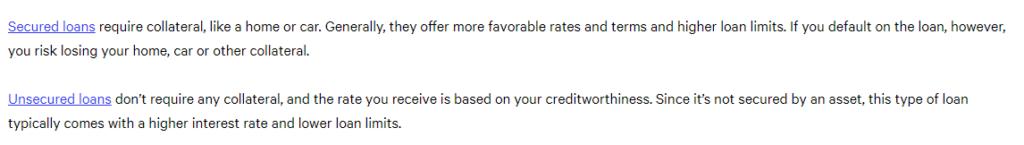Secured vs. unsecured bad credit loans