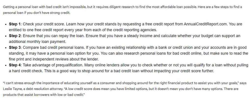 How to get a personal loan with bad credit