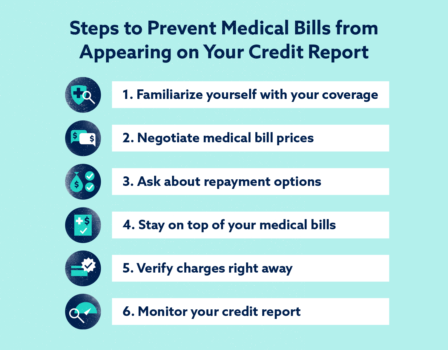 Graphic: Steps to Prevent Medical Bills from Appearing on Your Credit Report
