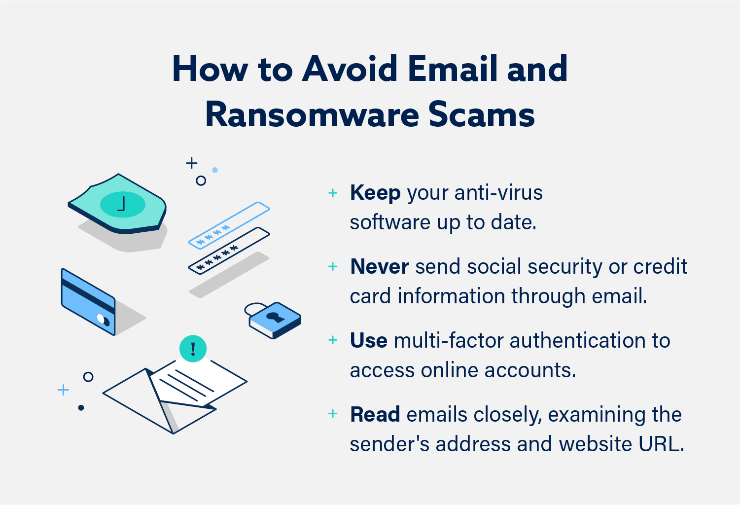 Graphic: How to Avoid Email and Ransomware Scams