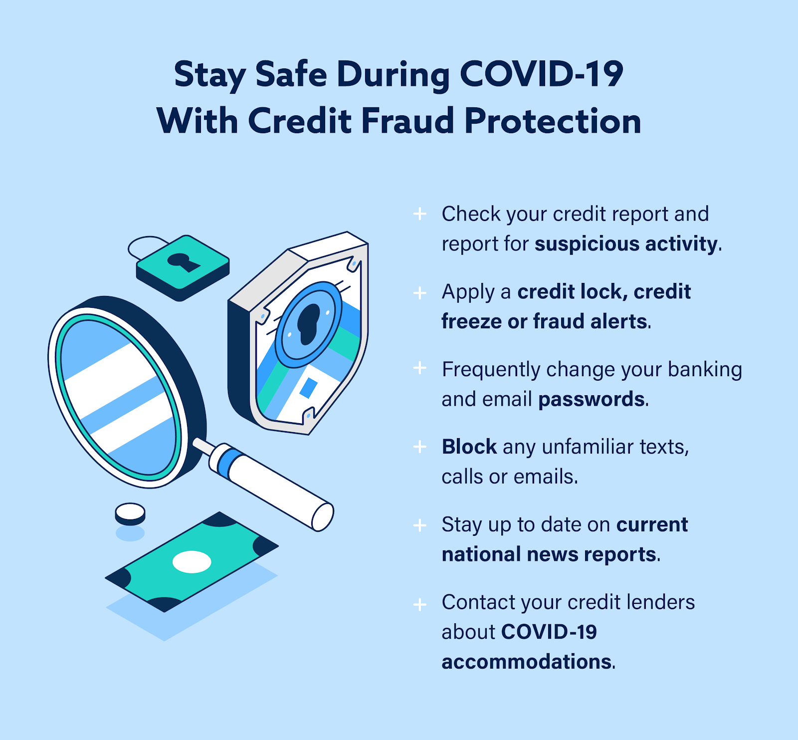 Graphic: How to Stay Safe with Credit Fraud Protection