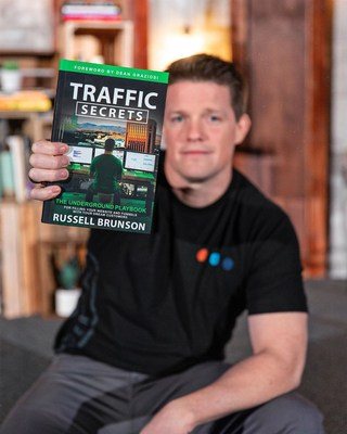 Russell Brunson, renowned online marketer, public speaker, and co-CEO of ClickFunnels, tops best-selling lists after selling 60,000 copies of Traffic Secrets, an underground playbook that applies to all entrepreneurs, in its first few weeks.