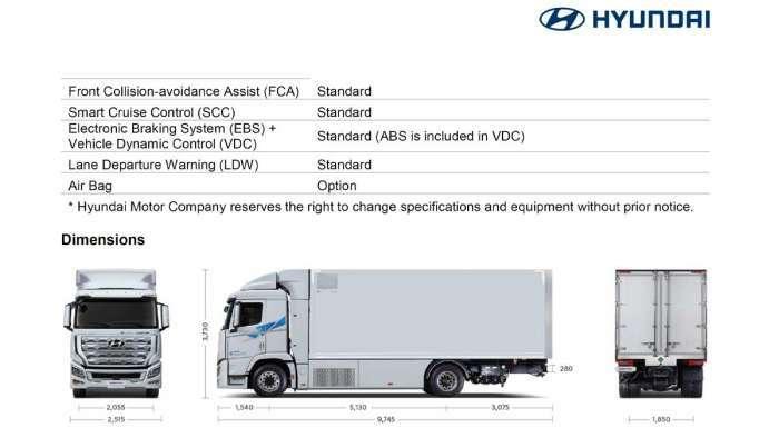 Hyundai XCIENT Specs 3