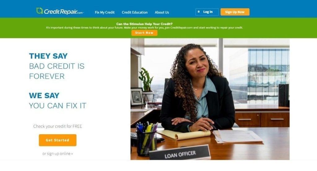 CreditRepair.com homepage