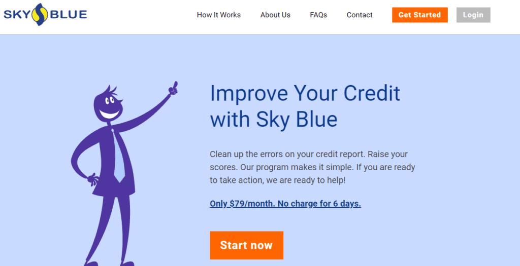 Sky Blue Credit Repair Website