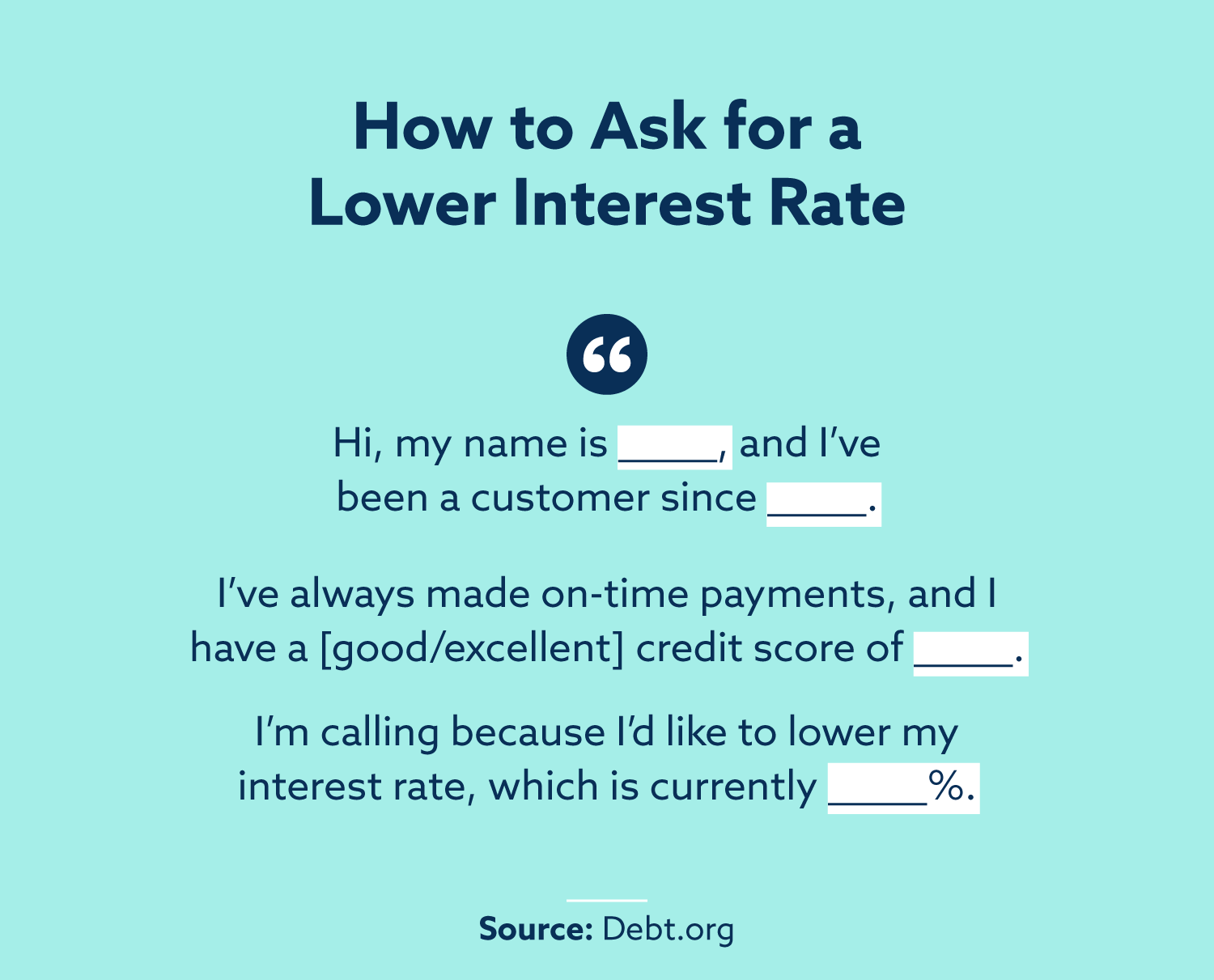 In a 2019 study, 81% of those who asked for a reduced interest rate received one. The average reduction was approximately 6 percentage points. Source: CompareCards.com