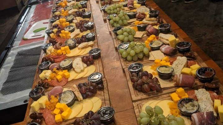 Pictured are charcuterie boards made by Chef John Wilson of Sophie's Cork & Ale for the Arts Davidson County New Year's Eve fundraiser. The arts nonprofit and Wilson have teamed up again to offer charcuterie boards for Valentine's Day featuring sweet treats.
