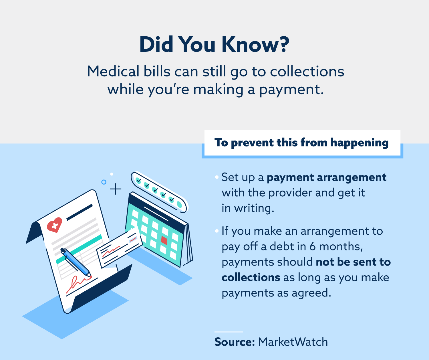 how to prevent medical bills from going to collections