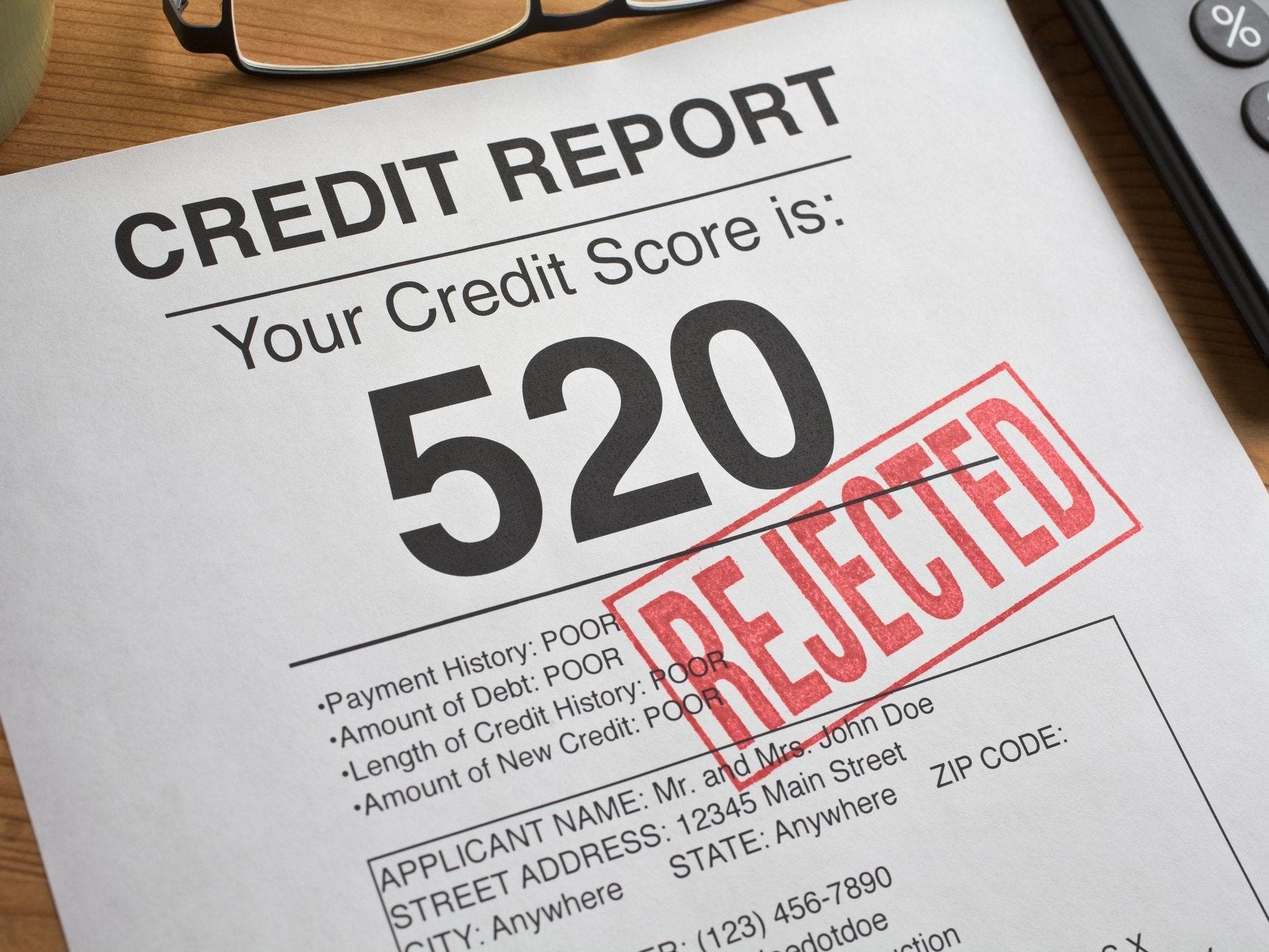 Errors on a credit report can end up hurting your credit score. Consumer watchdogs suggest that you request a copy of your credit report at www.annualcreditreport.com before shopping for a loan.