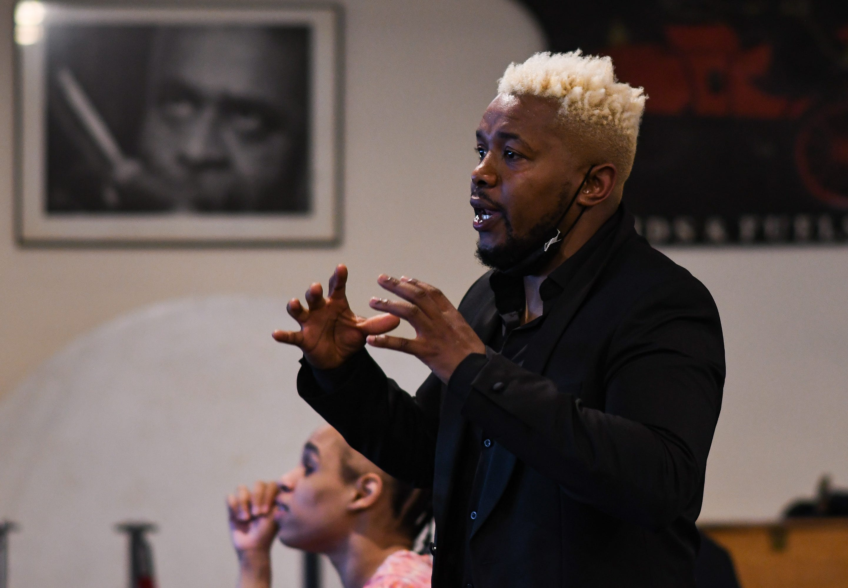 """""""Let's stop competing and start networking,"""" said Leo Brown, founder of Black Wall Street of Lansing, during a networking event held Monday, May 24, 2021 at Gregory's in Lansing. The group's aim is to bring together Black entrepreneurs, business owners, organizations and consumers to create a self-sufficient Black economy in Lansing."""