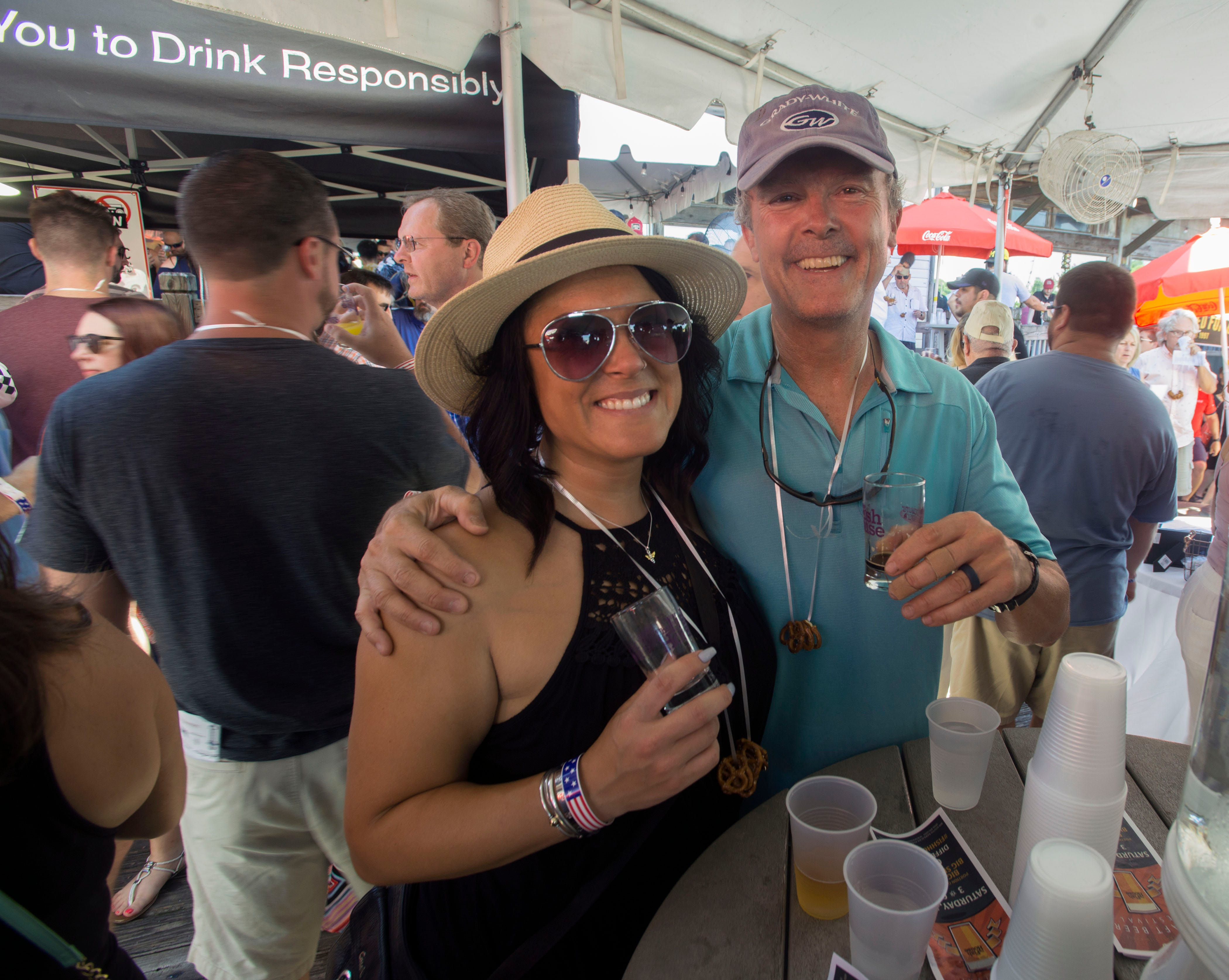 Visitors sample craft beers June 15, 2019, during the sixth annual Fish House Craft Beer Festival. The festival featured more than 50 beers with a portion of the event proceeds benefiting Big Brothers Big Sisters of Northwest Florida.