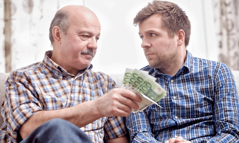 Lend money to family members